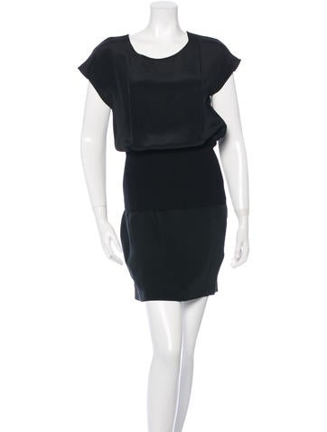 3.1 Phillip Lim Silk Knit-Accented Dress None