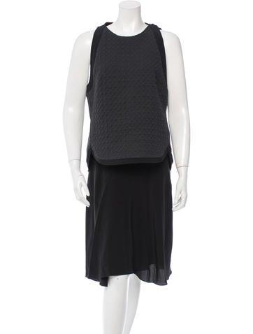 3.1 Phillip Lim Silk Quilt-Accented Dress