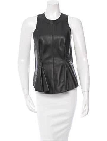 3.1 Phillip Lim Leather Sleeveless Top w/ Tags None