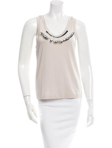 3.1 Phillip Lim Sleeveless Embellished Top None