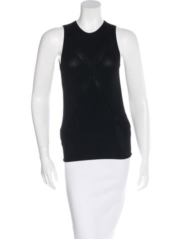 3.1 Phillip Lim Sleevless Rib-Knit Top None