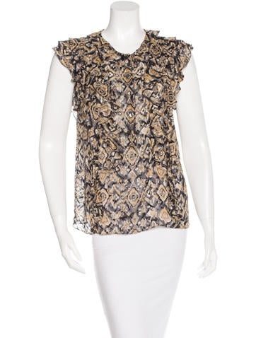 3.1 Phillip Lim Printed Silk Top None