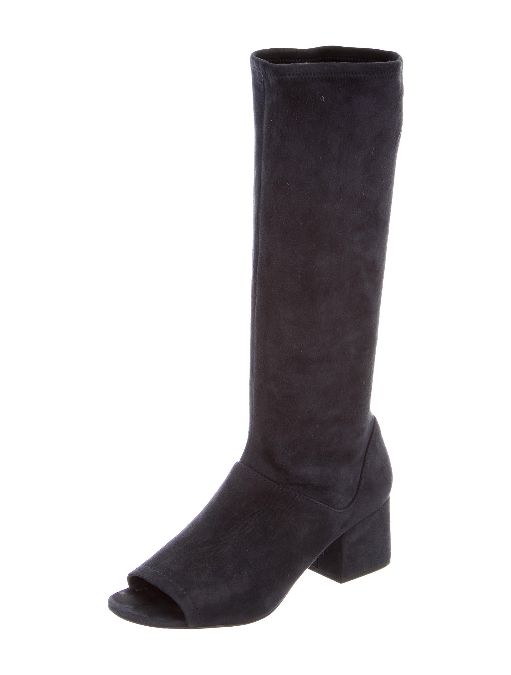 3 1 phillip lim peep toe suede boots shoes w31ph37136