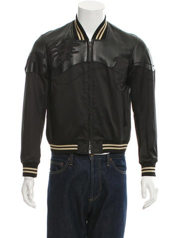3.1 Phillip Lim Leather Varsity Jacket None