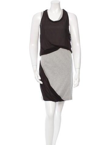 3.1 Phillip Lim Sleeveless Two-Tone Dress None