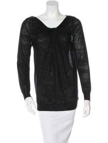 3.1 Phillip Lim Wool & Silk Sheer Top None