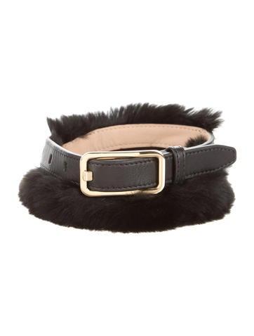 3.1 Phillip Lim Leather Fur-Trimmed Belt