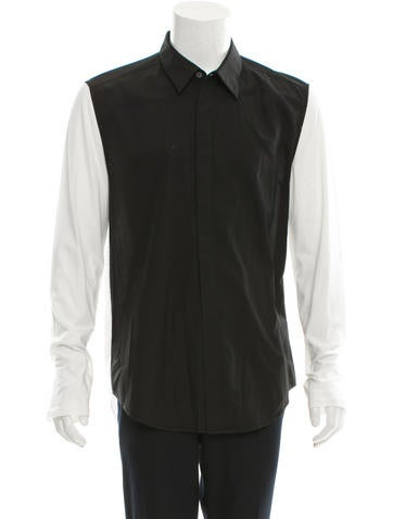 3.1 Phillip Lim Two-Tone Button-Up Shirt None