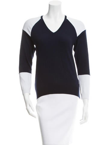 3.1 Phillip Lim Wool Two-Tone Top None