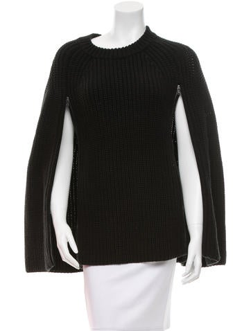 3.1 Phillip Lim Crew Neck Rib Knit Cape None