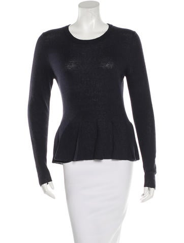 3.1 Phillip Lim Rib Knit Peplum Top None