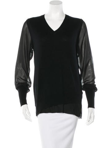 3.1 Phillip Lim Paneled Long Sleeve Top None