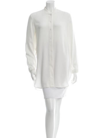 3.1 Phillip Lim Silk-Accented Long Sleeve Tunic None