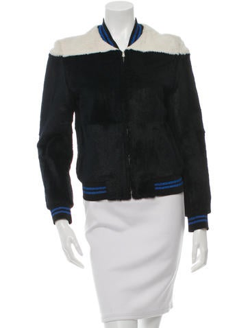 3.1 Phillip Lim Fur Colorblock Jacket None