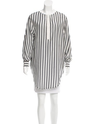 3.1 Phillip Lim Long Sleeve Striped Tunic None