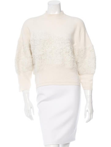 3.1 Phillip Lim Wool Long Sleeve Sweater None