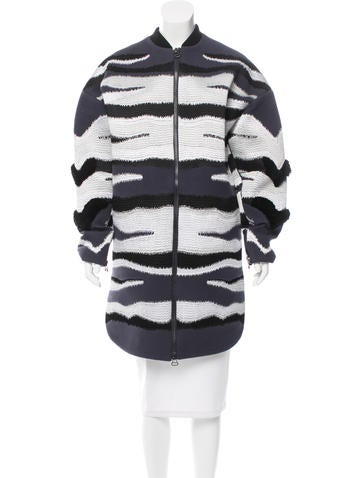 3.1 Phillip Lim Oversize Tiger Stripe-Embroidered Jacket