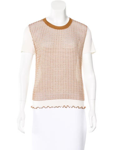 3.1 Phillip Lim Open Knit Short sleeve Sweater None