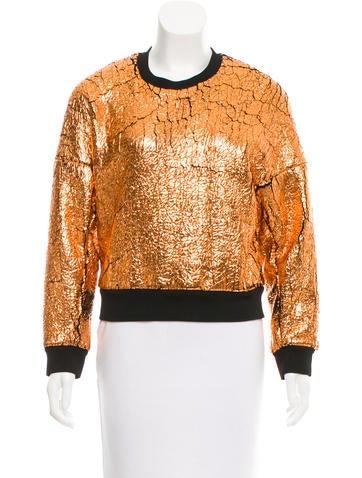 3.1 Phillip Lim Metallic Sweatshirt None