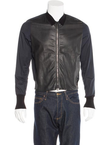 3.1 Phillip Lim Lambskin-Trimmed Shell Jacket None