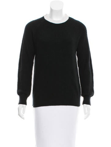 3.1 Phillip Lim Black Crew Neck Sweater None