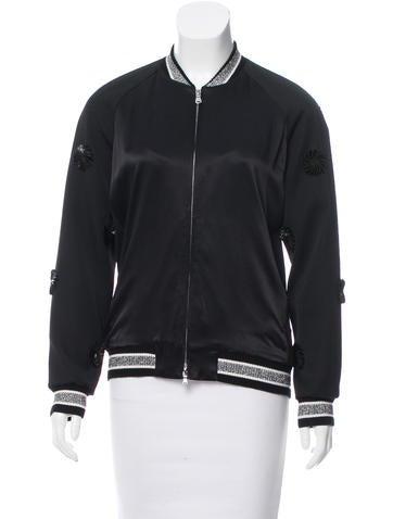 3.1 Phillip Lim Embellished Wool Bomber Jacket None