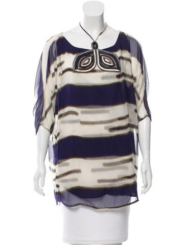 3.1 Phillip Lim Silk Embellished Tunic None