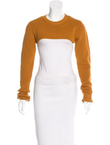 3.1 Phillip Lim Cropped Rib-Knit Sweater w/ Tags None