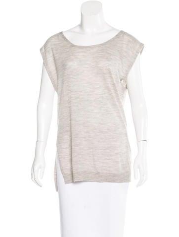 3.1 Phillip Lim Merino Wool Sleeveless Top None