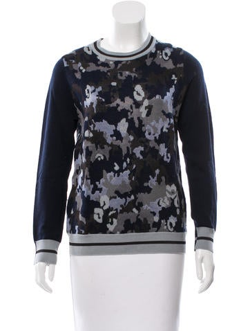 3.1 Phillip Lim Camouflage Intarsia Wool-Blend Sweater None