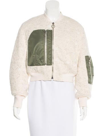 3.1 Phillip Lim Lace Bomber Jacket None