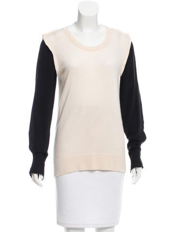 3.1 Phillip Lim Wool Colorblock Top None