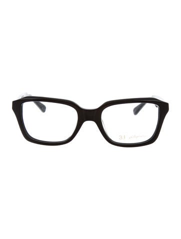 3.1 Phillip Lim Logo-Embellished Square Eyeglasses