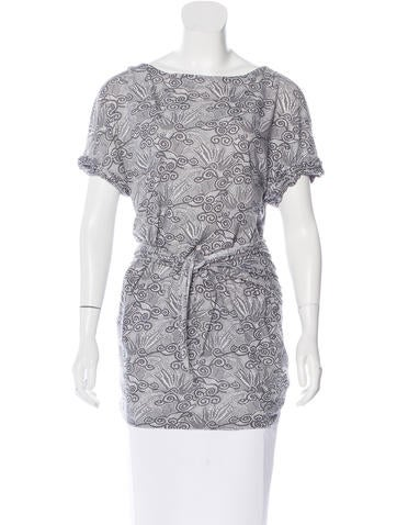 3.1 Phillip Lim Lace Print Short Sleeve Tunic None