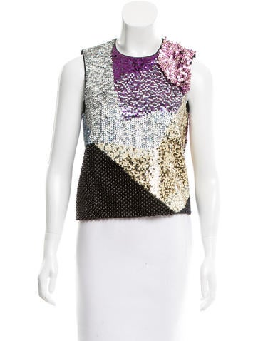 3.1 Phillip Lim Sequined Wool Top None