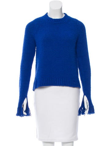 3.1 Phillip Lim Scoop Neck Rib Knit Sweater None