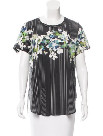 3.1 Phillip Lim Silk Floral Print Top None