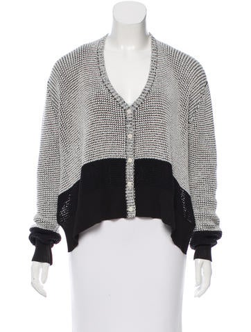 3.1 Phillip Lim Two-Tone High Low Cardigan None