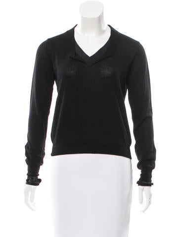 3.1 Phillip Lim Knit V-Neck Top None