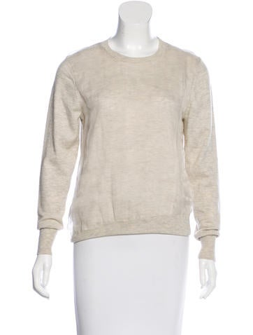 3.1 Phillip Lim Sheer-Paneled Rib Knit Sweater None