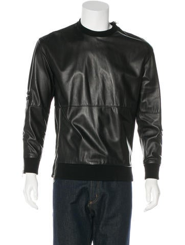 3.1 Phillip Lim Zip-Accented Leather Sweatshirt None