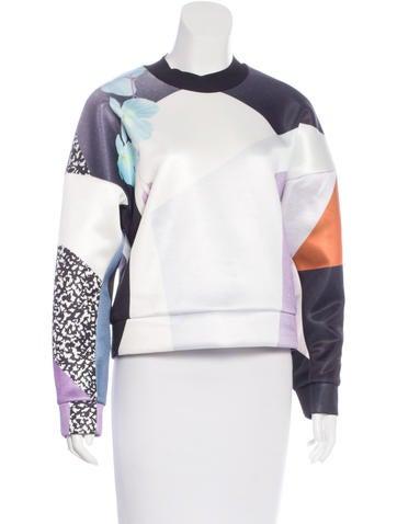 3.1 Phillip Lim Floral Print Pullover Sweatshirt