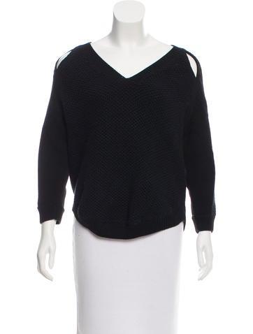 3.1 Phillip Lim Silk-Trimmed Cutout Sweater None