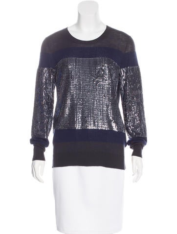 3.1 Phillip Lim Colorblock Embellished Sweater None