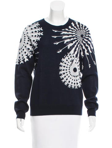 3.1 Phillip Lim Crew Neck Patterned Sweater None