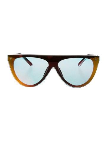 3.1 Phillip Lim Mirrored Rimless Sunglasses