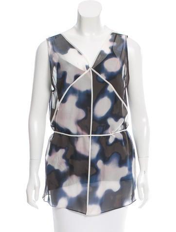 3.1 Phillip Lim Silk Abstract Tunic None