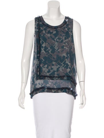 3.1 Phillip Lim Silk Embellished Top None