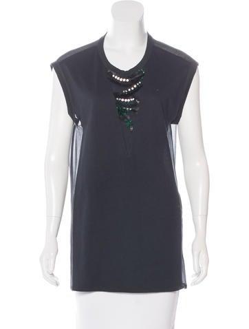 3.1 Phillip Lim Embellished Sleeveless Tunic None