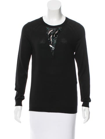 3.1 Phillip Lim Embellished Crew Neck Sweater None